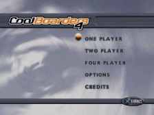 Cool Boarders 4 title screenshot