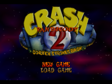 Crash Bandicoot 2 - Cortex Strikes Back title screenshot