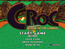 Croc - Legend of the Gobbos title screenshot