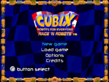 Cubix Robots for Everyone - Race 'n Robots title screenshot