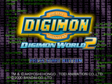 Digimon World 2 title screenshot