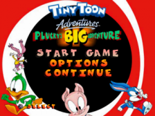 Tiny Toon Adventures - Plucky's Big Adventure title screenshot