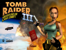 Tomb Raider III - Adventures of Lara Croft title screenshot