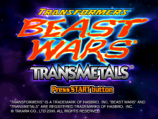 Transformers - Beast Wars Transmetals title screenshot