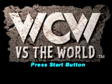WCW vs. The World title screenshot