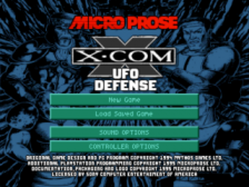 X-Com - UFO Defense title screenshot