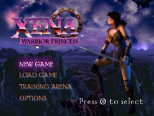 Xena - Warrior Princess title screenshot