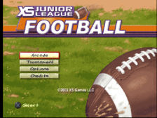 XS Junior League Football title screenshot