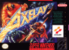 Axelay Nintendo Super NES cover artwork
