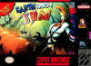 Earthworm Jim Nintendo Super NES cover artwork