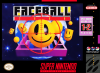 Faceball 2000 Nintendo Super NES cover artwork