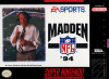 Madden NFL '94 Nintendo Super NES cover artwork