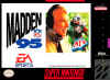 Madden NFL 95 Nintendo Super NES cover artwork