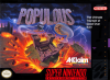 Populous Nintendo Super NES cover artwork