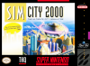 SimCity 2000 Nintendo Super NES cover artwork