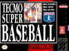 Tecmo Super Baseball Nintendo Super NES cover artwork