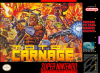 Total Carnage Nintendo Super NES cover artwork
