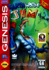 Earthworm Jim Sega Genesis cover artwork