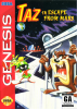 Taz in Escape from Mars Sega Genesis cover artwork