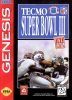 Tecmo Super Bowl III - Final Edition Sega Genesis cover artwork
