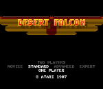 Desert Falcon title screenshot
