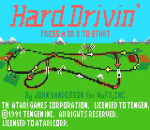 Hard Drivin' title screenshot