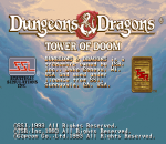 Dungeons & Dragons: Tower of Doom title screenshot