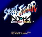 Street Fighter Alpha : Warriors' Dreams title screenshot