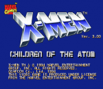 X-Men : Children of the Atom title screenshot