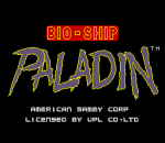 Bio-ship Paladin title screenshot