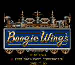 Boogie Wings title screenshot