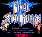 Final Star Force title screenshot