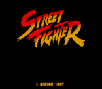 Street Fighter title screenshot