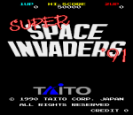 Super Space Invaders '91 title screenshot