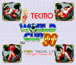 Tecmo World Cup '90 title screenshot