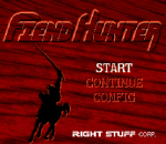 Fiend Hunter title screenshot
