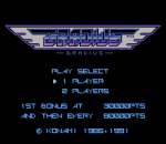 Gradius title screenshot