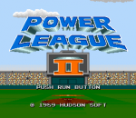 Power League II title screenshot
