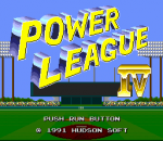 Power League IV title screenshot