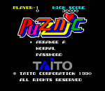 Puzznic title screenshot