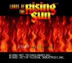 Lords of the Rising Sun title screenshot