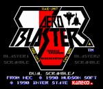Aero Blasters title screenshot