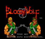 Bloody Wolf title screenshot