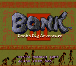 Bonk III - Bonk's Big Adventure title screenshot