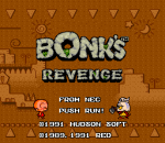Bonk's Revenge title screenshot