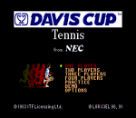 Davis Cup Tennis title screenshot