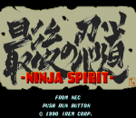 Ninja Spirit title screenshot