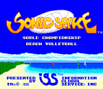 Sonic Spike - World Championship Beach Volleyball title screenshot
