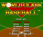 World Class Baseball title screenshot