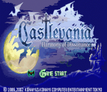 Castlevania - Harmony of Dissonance title screenshot